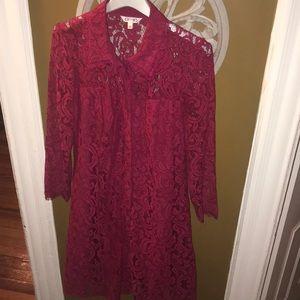 Nanette Lepore Red Lace Dress Sz 12